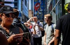 Manhattan street scene Stock Image