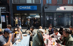 Manhattan street scene, NYC Royalty Free Stock Photos
