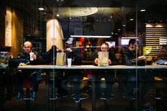 Manhattan street scene, NYC Stock Images