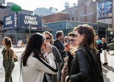 Manhattan street scene, NYC Royalty Free Stock Photo