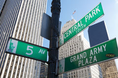Manhattan Street Signs Stock Photography