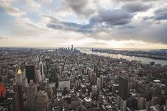 Manhattan street view from Empire State Building in New York City royalty free stock photography