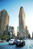 Manhattan Street View, New York City. With historical buildings Royalty Free Stock Image
