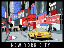 Manhattan street view Royalty Free Stock Photo