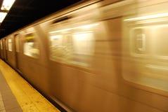 Manhattan subway train Royalty Free Stock Images