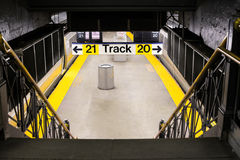 Manhattan Subway Train Station Royalty Free Stock Photo