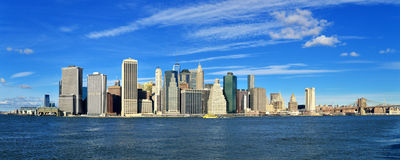 Manhattan on a sunny day. Royalty Free Stock Image