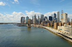 Manhattan at sunny day. Stock Images