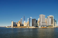 Manhattan on a sunny day. Royalty Free Stock Photo