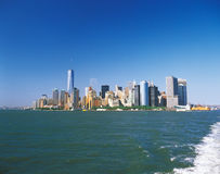 Manhattan on a sunny day. Stock Photos