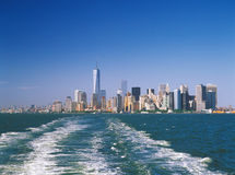 Manhattan on a sunny day. Royalty Free Stock Photography