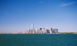 Manhattan on a sunny day. Royalty Free Stock Photos