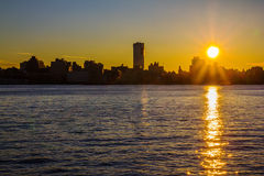 Manhattan sunrise Royalty Free Stock Photos