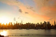 Manhattan at sunrise Stock Image