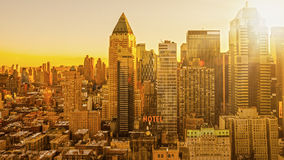 Manhattan sunrise morning Stock Images