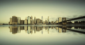 Manhattan sunrise, New york Stock Photography