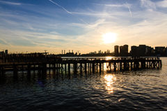 Manhattan at sunset Royalty Free Stock Photo
