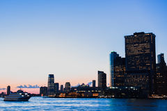 Manhattan Sunset stock images