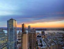 Manhattan at sunset Royalty Free Stock Images