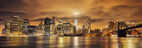 Manhattan at sunset Royalty Free Stock Images