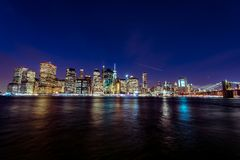 Manhattant at Sunset. Manhattan at Sunset, New York, USA royalty free stock images