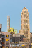 Manhattan sunset skyline in autumn, New York City Royalty Free Stock Images