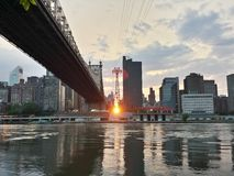Manhattan Sunset Stock Images