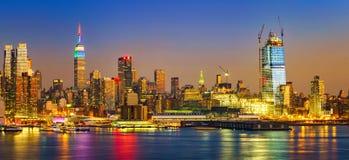 Manhattan at sunset Royalty Free Stock Photos
