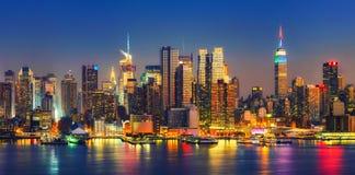 Manhattan after sunset Stock Photography