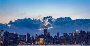 Manhattan after sunset Royalty Free Stock Images