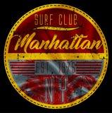 Manhattan surf club. Fashion style Stock Image