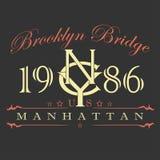 Manhattan t-shirt design Stock Photos