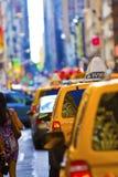 manhattan taxar Fotografering för Bildbyråer