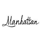 Manhattan text. Vintage retro lettering design.   Royalty Free Stock Image