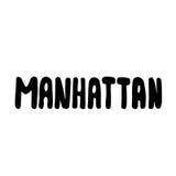 Manhattan text. Vintage retro lettering design.   Stock Photo