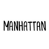 Manhattan text. Vintage retro lettering design.  Stock Photos