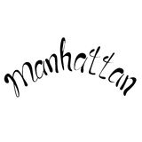 Manhattan text. Vintage retro lettering design.   Stock Images