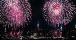 Manhattan 4th July. Manhattan on 4th of July during fireworks show Royalty Free Stock Photos