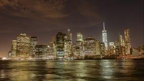 Manhattan in timelapse stock video