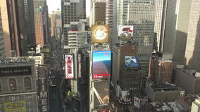 Manhattan Times Square from high up 4K stock footage