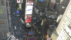 Manhattan Times Square from high up 4K stock video footage