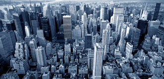 Manhattan top view Stock Photo