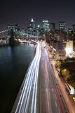 Manhattan traffic. Along FDR Drive Royalty Free Stock Photo