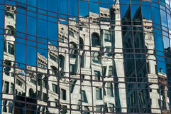 Manhattan tribeca mirror building. New York tribeca mirror building Royalty Free Stock Images