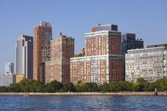 Manhattan Tribeca waterfront cityscape, NYC. Manhattan Tribeca waterfront cityscape, New York City, USA stock photography
