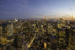 Manhattan twilight Royalty Free Stock Photos