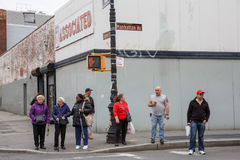 Manhattan ulicy scena Obrazy Royalty Free