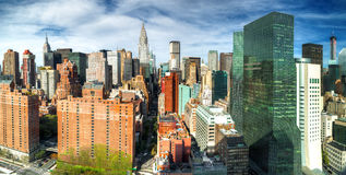 Manhattan from UN building Stock Images