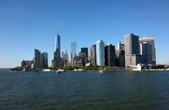 Manhattan und Brooklyn-Brücke stockbild