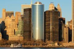 Manhattan und Brooklyn-Brücke Stockfoto